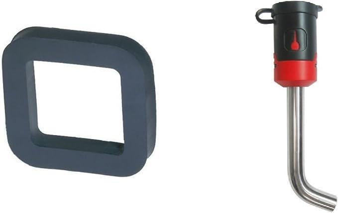 GEN-Y Hitch GH-324 Class V 2 Receiver 8 Drop Hitch 10K Towing w// 2 Silencer Pad /& Black Premium 5//8 Key Receiver Lock Bundle