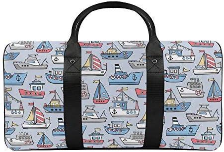 ボート船1 旅行バッグナイロンハンドバッグ大容量軽量多機能荷物ポーチフィットネスバッグユニセックス旅行ビジネス通勤旅行スーツケースポーチ収納バッグ