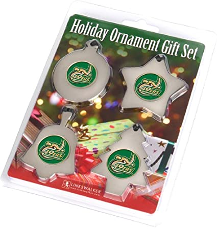 north carolina charlotte 49ers holiday ornament gift pack