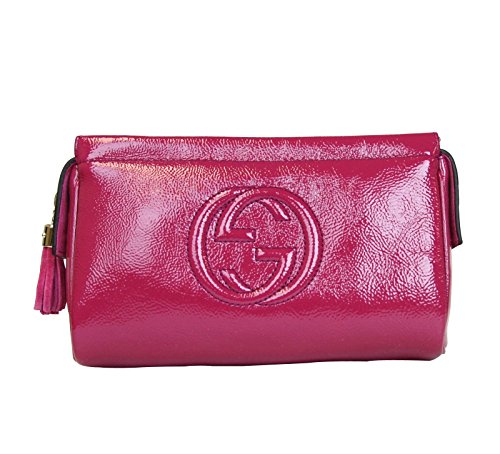 Gucci Patent Leather Cosmetic Case Tasse - Gucci Pink Shopping Results