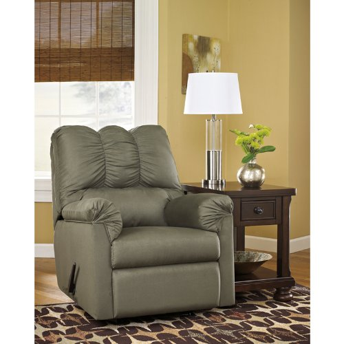 Signature Design by Ashley Darcy Rocker Recliner in Sage Fabric - Sage Ashley Furniture