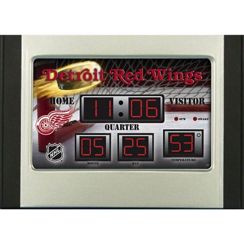 Detroit Red Wings Alarm Clock Desk Scoreboard