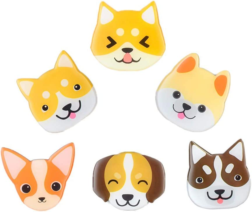 Dog Fridge Magnets Cute Refrigerator Decoraitive 3D Animal Decoration for Whiteboards Office Door Lockers Gifts (dog magnets)