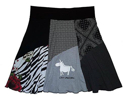 Unicorn T-Shirt Skirt Plus Size Women's 1 X 2X One of a Kind Handmade Item