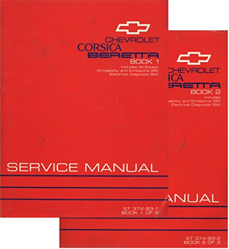 1993 Chevrolet Corsica Beretta Service Manual (2 Volume - Beretta Set Chevrolet