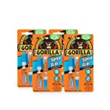 Gorilla Super Glue, 6 g, Clear, (4 Pack)