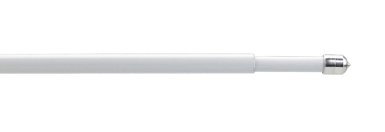 25-35 cm Scheibenstange ohne zu Bohren Klebepads L/änge 25 bis 115 cm Klemmstange Pinn Farbe wei/ß 2 Stck