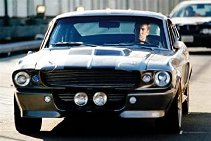 Amazon.com: Eleanor Mustang Poster Gone In 60 Seconds Nic Cage ...