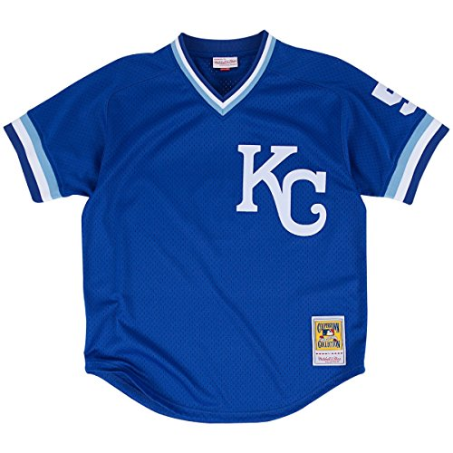 George Brett Blue Kansas City Royals Authentic Mesh Batting Practice Jersey – Sports Center Store