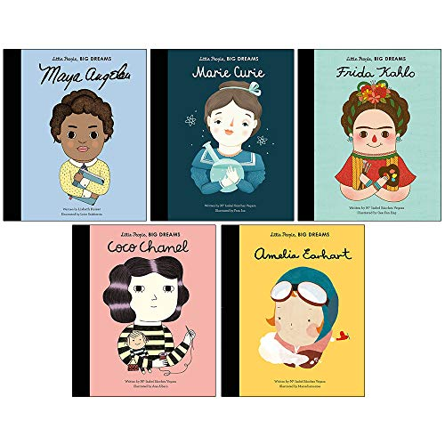(Little people, big dreams series 1 : 5 books collection bundle set ( Maya Angelou ,Marie Curie,Frida Kahlo,Coco Chanel,Amelia Earhart))