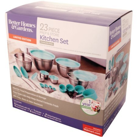 Better Homes and Gardens 23-Piece Gadget and Utensil Set (Teal)