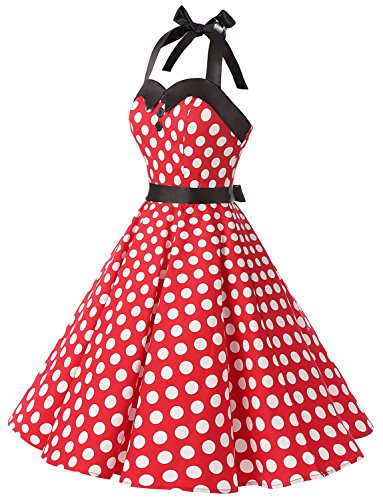 147806ee978 Home Brands S.L. Fashions Dressystar Vintage Polka Dot Retro Cocktail Prom  Dresses 50 s 60 s Rockabilly Bandage Red White Dot L.   