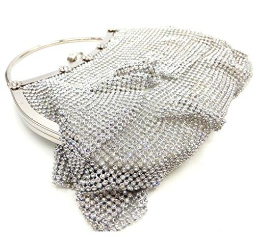 Western blanc de Pochette Mariée Diamond Main Bag WLQ XCF Pochette de Sac Pack Dinner à Soft Soirée wPWqaX