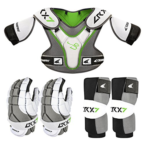 Champro Sports Lrx7 Lax/Lacrosse Starter Pad Box Set, Grey, Medium