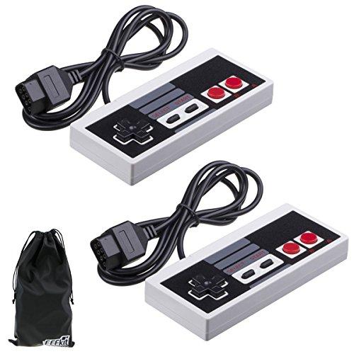 EEEKit 2 Packs Classic NES Controllers for Nintendo NES 8 Bit System Console Control Pad