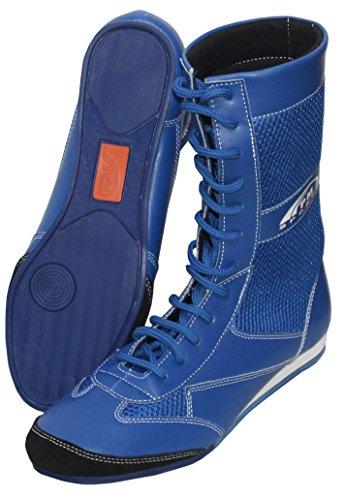 Suprieure Caoutchouc Pm Vritable De Sport Longue Adulte Leather Cuir Bleu Semelle Combat En Bottes q6TPxTv