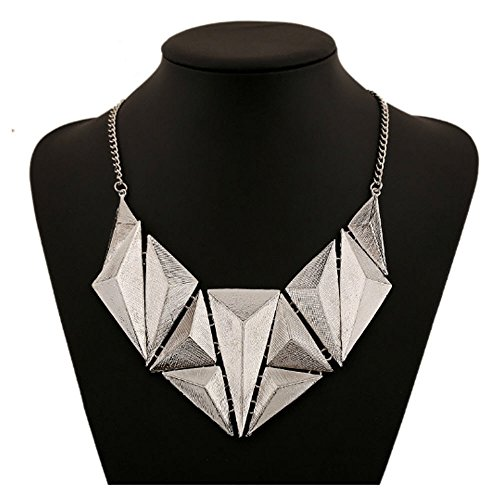 Women geometric necklace&pendents 2016 new african old gold plated choker egyptian triangle collier pendients mujer maxi bijoux (Adult African King Costume)