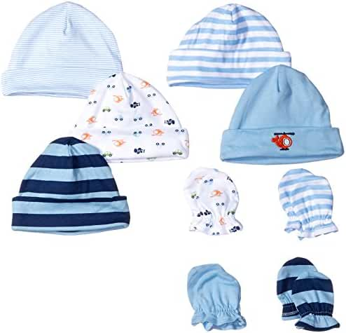 Gerber Baby Pack of 5 Caps & 4 Mittens