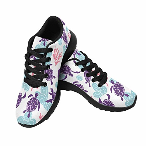 INTERESTPRINT Womens Running Shoes Cute Sea Turtle Pattern Print on Outdoor Running Sneakers