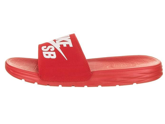 73a7b716ed5f Amazon.com  Nike Men s Benassi Solarsoft Sandals SB Sandal University Red White  9  Shoes