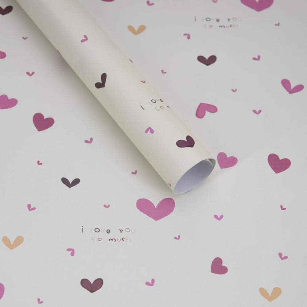 XZHKSP Papel de regalo Día de San Valentín Día de la Madre amor para enviar hombres y mujeres amigos mamá regalo caja de regalo papel de regalo materiales de decoración-G