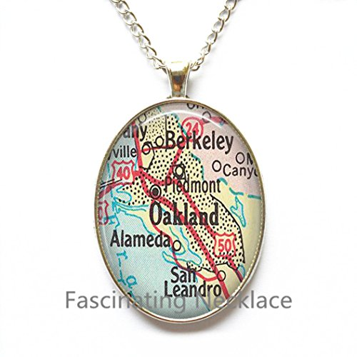 Used, Charming Necklace,Oakland, California map Pendant, for sale  Delivered anywhere in Canada