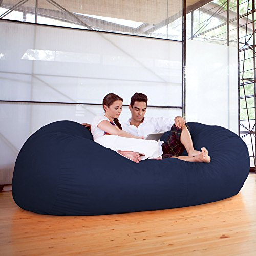 Jaxx 7 ft Giant Bean Bag Sofa, Navy by Jaxx