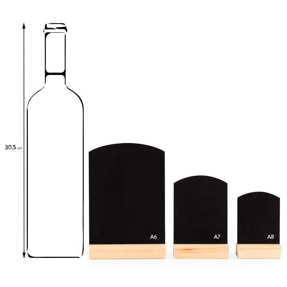 formato A8 Confezione da 5 piccole lavagne da tavolo
