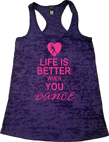 Orange Arrow Womens Dance Clothing (M, Rush) – Life Is Better When You Dance – Tanks