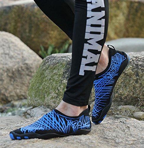 Buceo Secado Descalzo Agua Surf Yoga Unisex Zapatos Insun Rápido de Azul para Zapatos de Playa Deportivos Natación qOwZz
