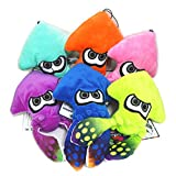 TISEA Unisex Splatoon Game Squid Hat Cuttlefish Funny Hats Winter Fleece Hat (Squid Stuffed Toy, Six Colors)