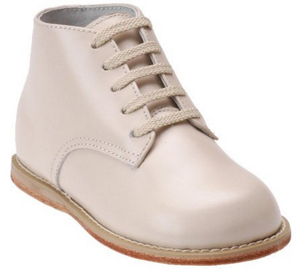 Josmo Shoes Boy's Ankle-Height Leather Oxfords Beige 2.5 by Josmo