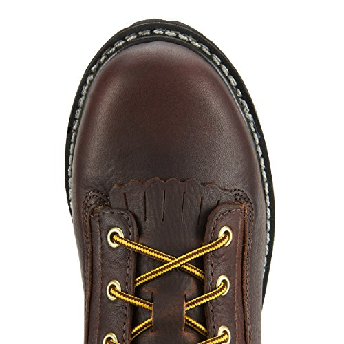 Georgia Mens Copper Leather Kiltie Lace Up Low Heel Logger Boots 10.5 W XzX5NlbSi