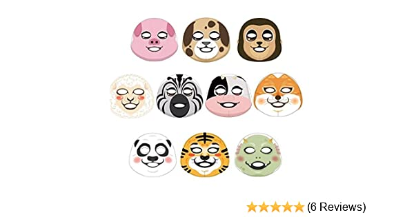 [The Face Shop] Animal Character Mask Sheet (Variety Mask 10-Piece)