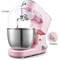 Schef Professional Stand Mixer, Kitchen Electric Mixer with Dough Hook, Whisk, Beater and Stir shovel, No gearshift…