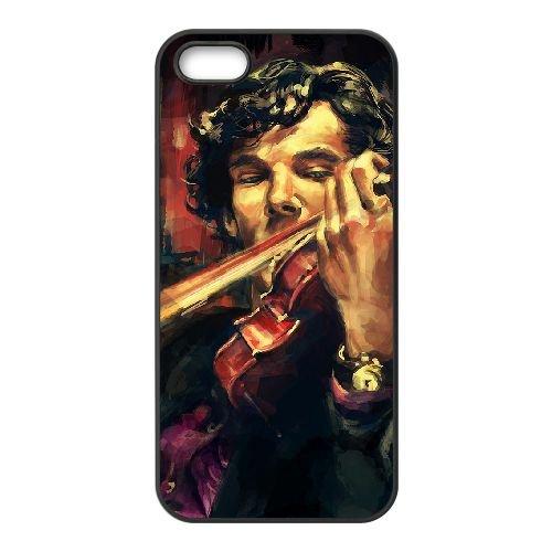 Benedict Cumberbatch 026 coque iPhone 4 4S cellulaire cas coque de téléphone cas téléphone cellulaire noir couvercle EEEXLKNBC23536