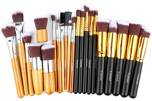 Makeup Brush, ESARORA Premium 22 Pcs Synthetic Foundation Po