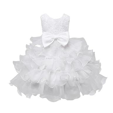 Rawdah Vestito Bambini Bambino Abito Vestiti Ragazze Fiore Compleanno Nozze  Damigella d Onore Pageant Principessa e5bd8f53b7f