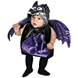 AM PM Kids! Baby's Bat Costume, Black/Purple/Silver, One Size