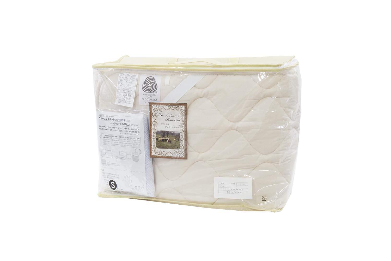 東京ベッド ベットパッド ベージュ シングル ベッド用ウォッシャブルウールパッド 羊毛パッド B07FVYFXZT