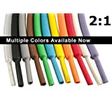 """Electriduct 1.5"""" Heat Shrink Tubing 2:1 Shrinkable Tube Cable Sleeve - 25 Feet (Brown)"""