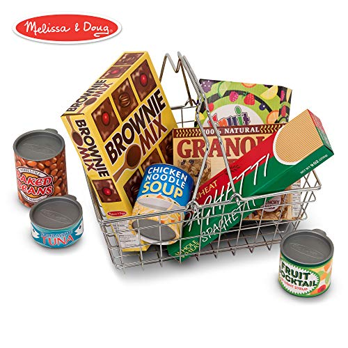 Melissa & Doug Grocery Basket - Pretend Play Toy With Heavy Gauge Steel Construction from Melissa & Doug