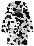 Ameyda Unisex Kids Hooded Cow Robe Fleece