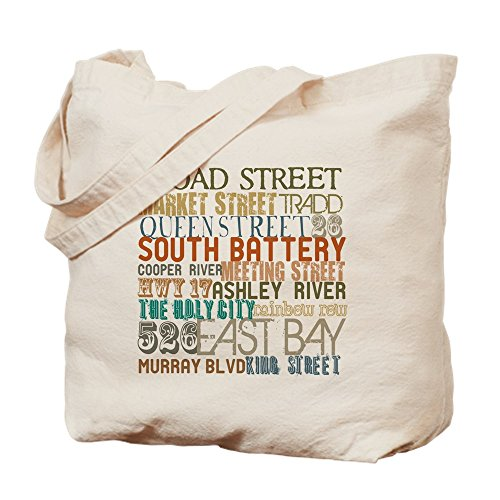 CafePress - Charleston, SC - Natural Canvas Tote Bag, Cloth Shopping - Charleston Shopping Sc