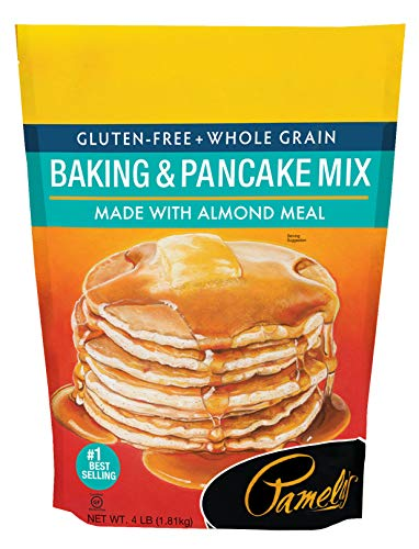 Pamela#039s Products Gluten Free Baking and Pancake Mix 4Pound Bags Pack of 3