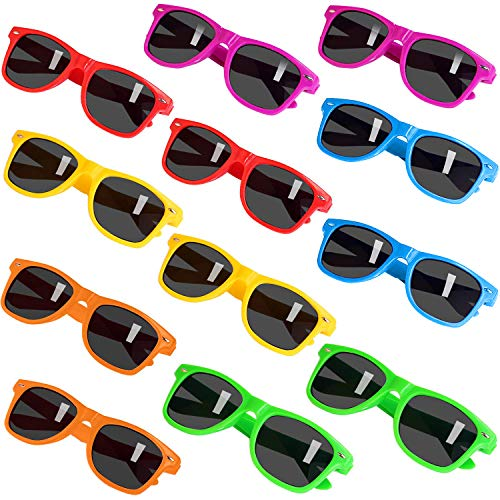 Party Sunglasses for Kids with UV400 Protection Eyewear Neon Sunglasses For Boys,Girls - Great Gift for Party Favors, Birthday Party and Outdoor Activity( 12 Pack )]()