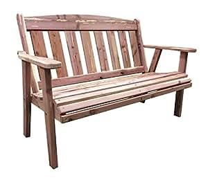 AmeriHome USA Amish Made 52.5 in. Cedar Outdoor Bench