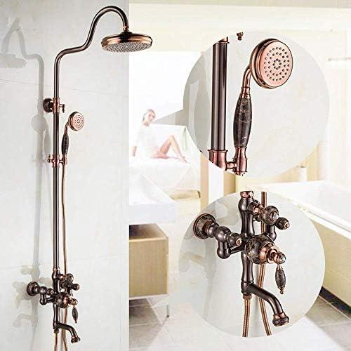 銅黒ブロンズシャワーシャワーレトロジェイドシャワーセットORBレインシャワー蛇口持ち上げ浴室用品