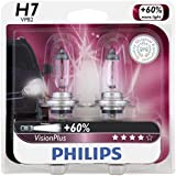 Philips H7 VisionPlus Upgrade Headlight Bulb, Pack of 2