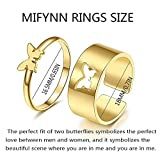 MIFYNN 2pcs Cute Butterfly Ring Stainless Steel